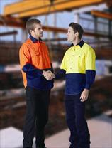 LIGHT WEIGHT HI VISIBILITY COTTON DRILL SHIRTS